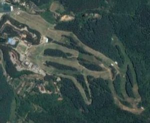 Satellite view of Bears Town ski resort, Korea