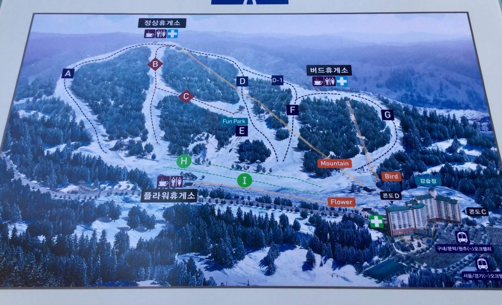 Oak Valley piste map