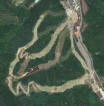 Satellite view of Elysian Gangchon ski resort, Korea