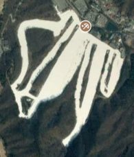 Satellite view of Jisan Forest ski resort, Korea
