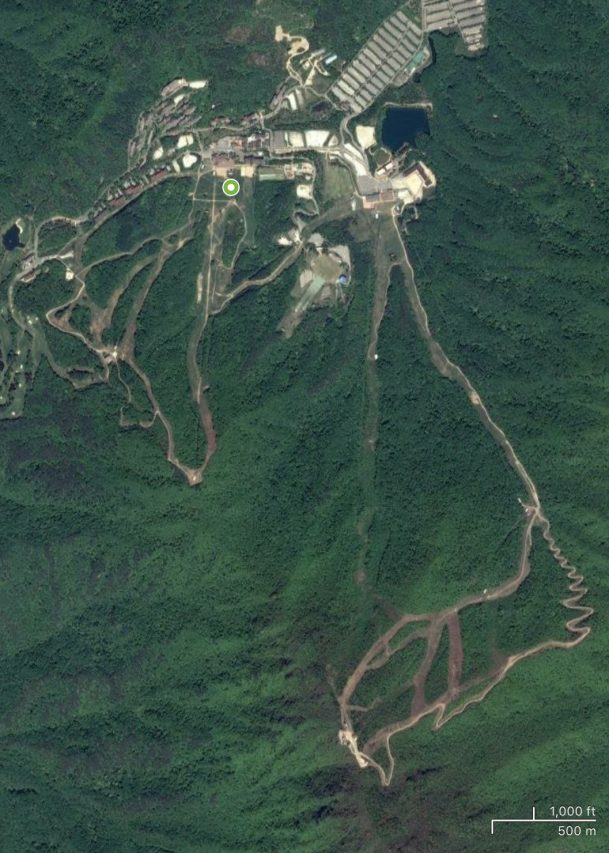 Satellite view of Muju Deogyusan ski resort, Korea