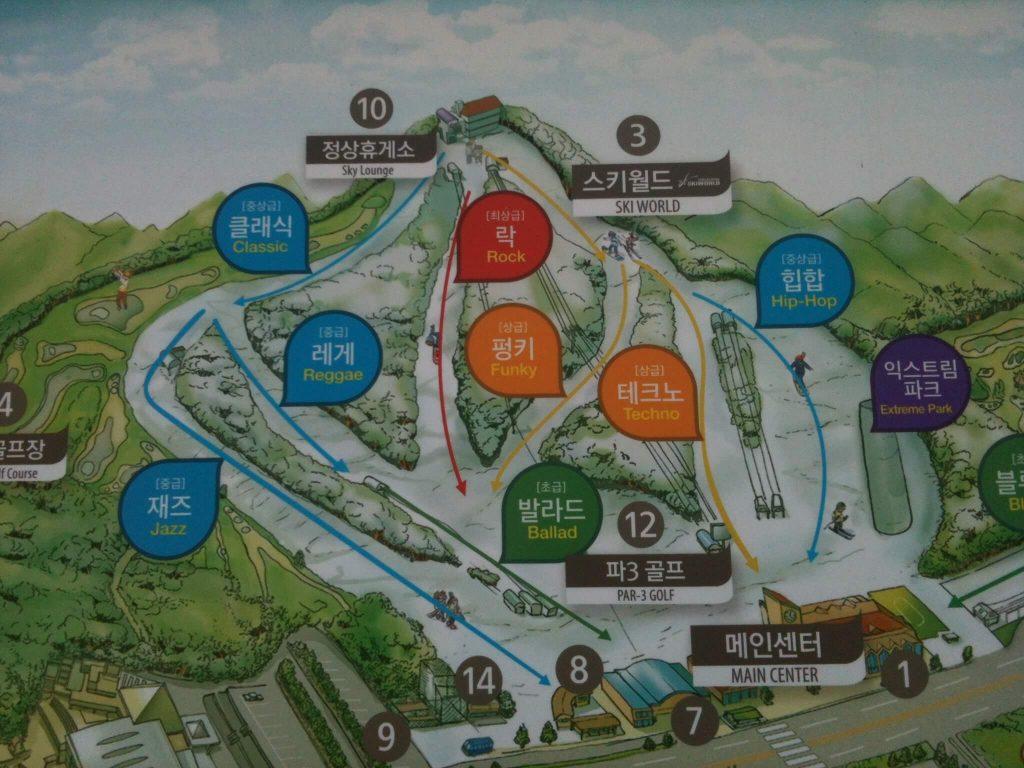 Vivaldi Park piste map
