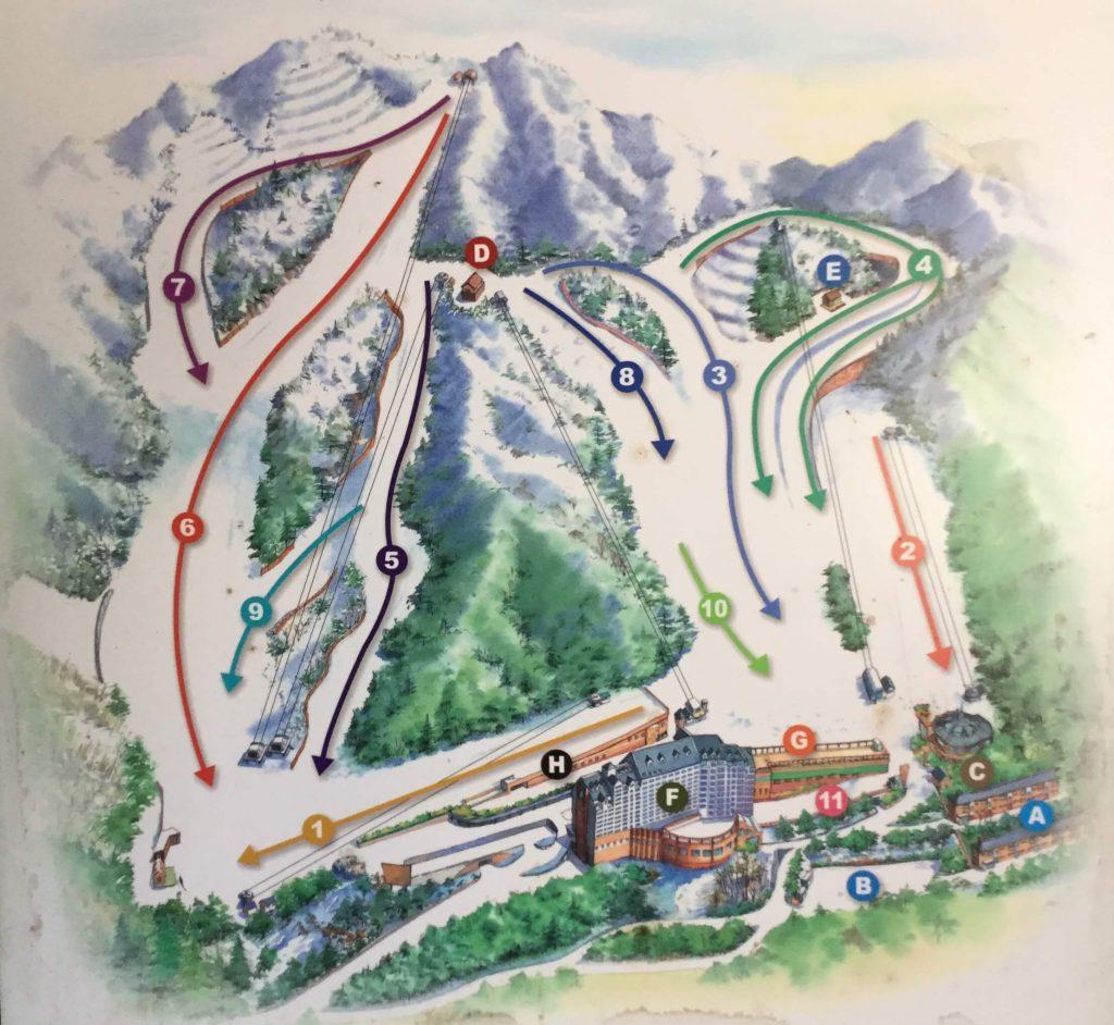 Yangji Pine piste map