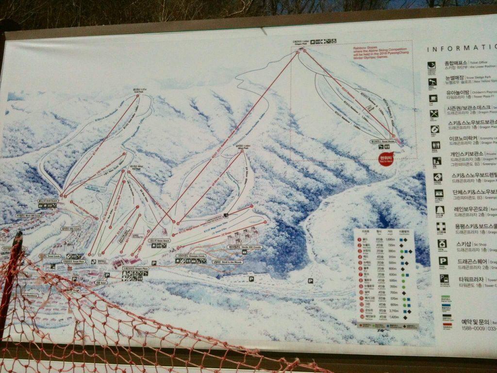 Yongpyong piste map