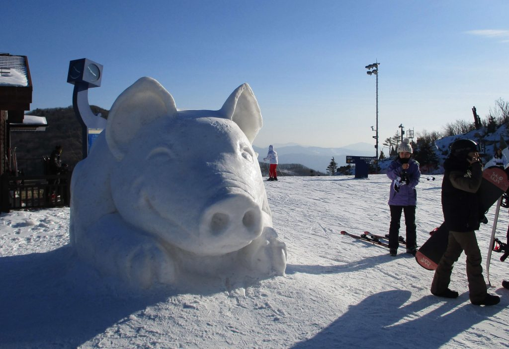 Snow sculpture at High1 Resort